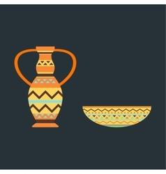 African vase vector