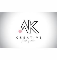 Ak letter logo design with creative modern trendy vector