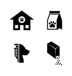 Animal shelter simple related icons vector