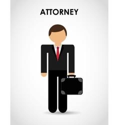 attorney icon vector image
