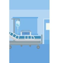 Background of hospital ward vector