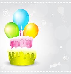 birthday background vector image