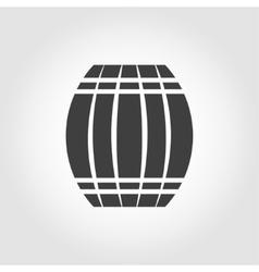 Black barrel icon on white background vector
