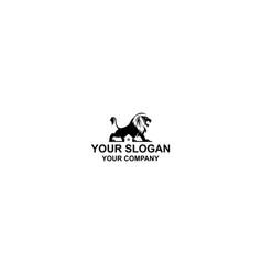 black lion home logo design vector image