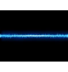 Blue sound wave on white background EPS10 vector image