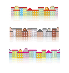 buildings with reflection vector image