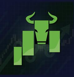 bullish symbols on stock market concept vector image