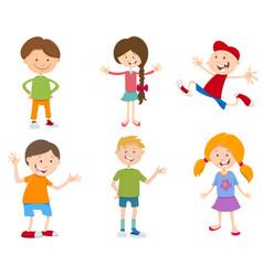 cartoon set of children vector image