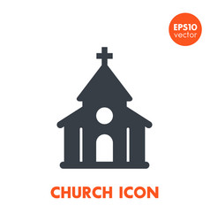 church icon over white vector image