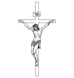 Crucifixion jesus christ a religious symbol vector