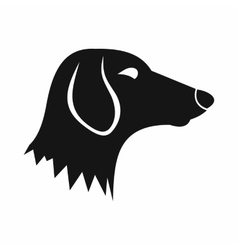 Dachshund dog icon simple style vector image