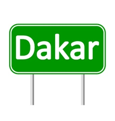 Dakar road sign vector