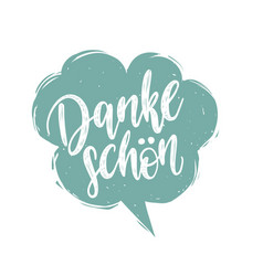 danke schon calligraphy german translation vector image