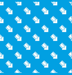 dice pattern seamless blue vector image