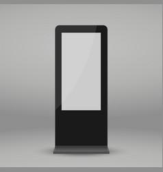 Digital multimedia stand vector