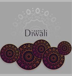 Diwali background with mandala decoration design vector
