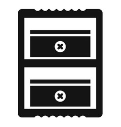 Double sharpener icon simple style vector