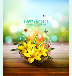 Easter card with colorful eggs and vector