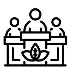 Eco resident lesson icon outline style vector