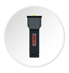 Electric flashlight icon circle vector