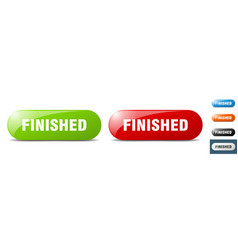 Finished button key sign push button set vector