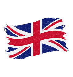 flag of united kingdom grunge abstract brush vector image