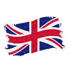 flag of united kingdom grunge abstract brush vector image