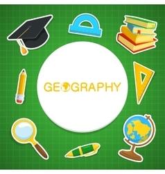 Geography backdrop vector