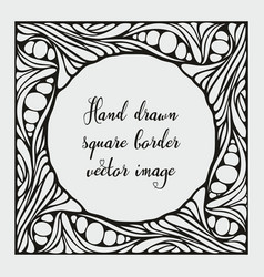 Hand drawn square border image vector