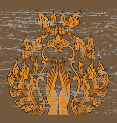 Hand thai art pattern vector
