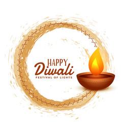 Happy diwali hindu festival card design background vector