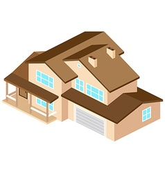 Iisometric suburban american house For web design vector
