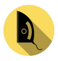 iron sign flat black icon with flat vector image