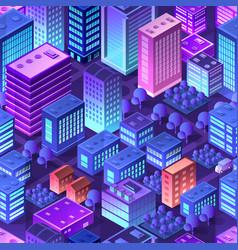isometric violet purple vector image
