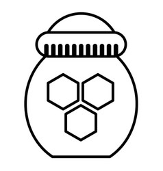 jar of honey icon outline style vector image