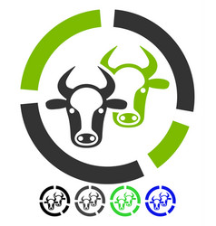 Livestock diagram flat icon vector
