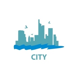 logo city vector image