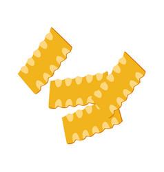 mafaldine pasta uncooked italian pasta macaroni vector image