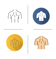Mans back icon vector