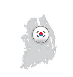 map of south korea with a label vector image