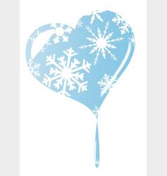 Melting ice heart vector