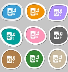 music column disco music melody speaker icon vector image