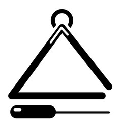 Musical triangle icon simple style vector