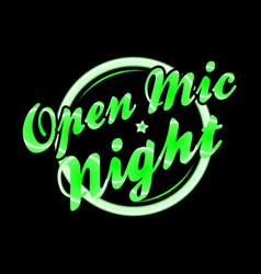Open mic night florescent light vector