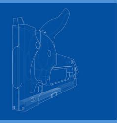 Outline construction stapler vector