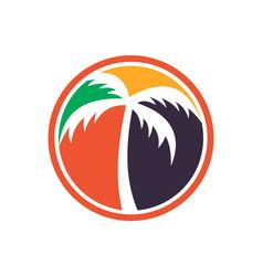 palm tree logo icon color concept vector image