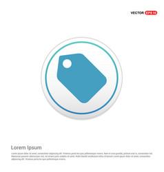 Price tag icon - white circle button vector