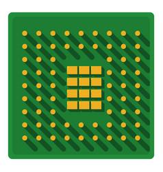 Processor icon cartoon style vector