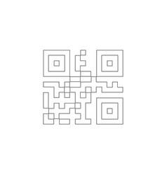 qr code flat icon vector image