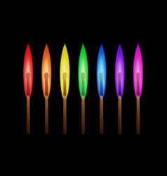 rainbow matches vector image